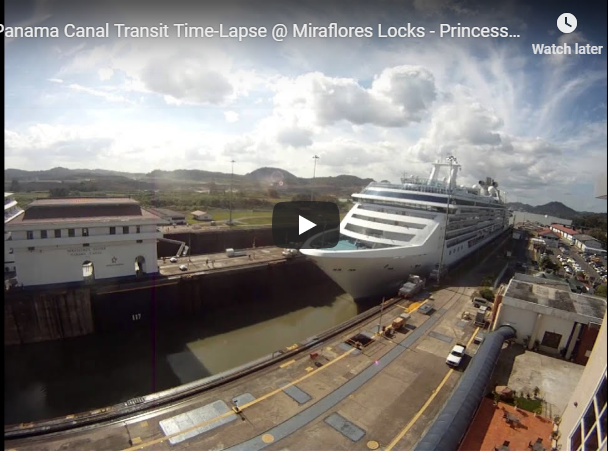 Download Panama Canal Transit Time Lapse Miraflores Locks Princess Cruise Island Princess Youtubemp4 To 2 28 2019 5 19 36 Pm